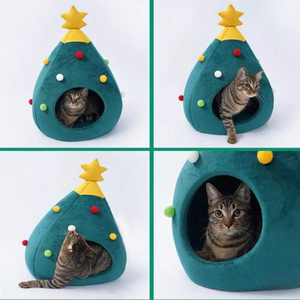 Inspiring Band Christmas Tree Cat House - InspiringBand