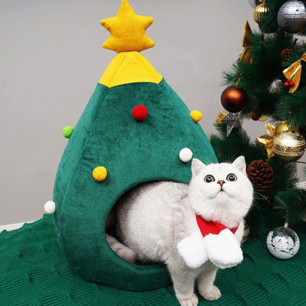 Inspiring Band Christmas Tree Cat House - InspiringBand